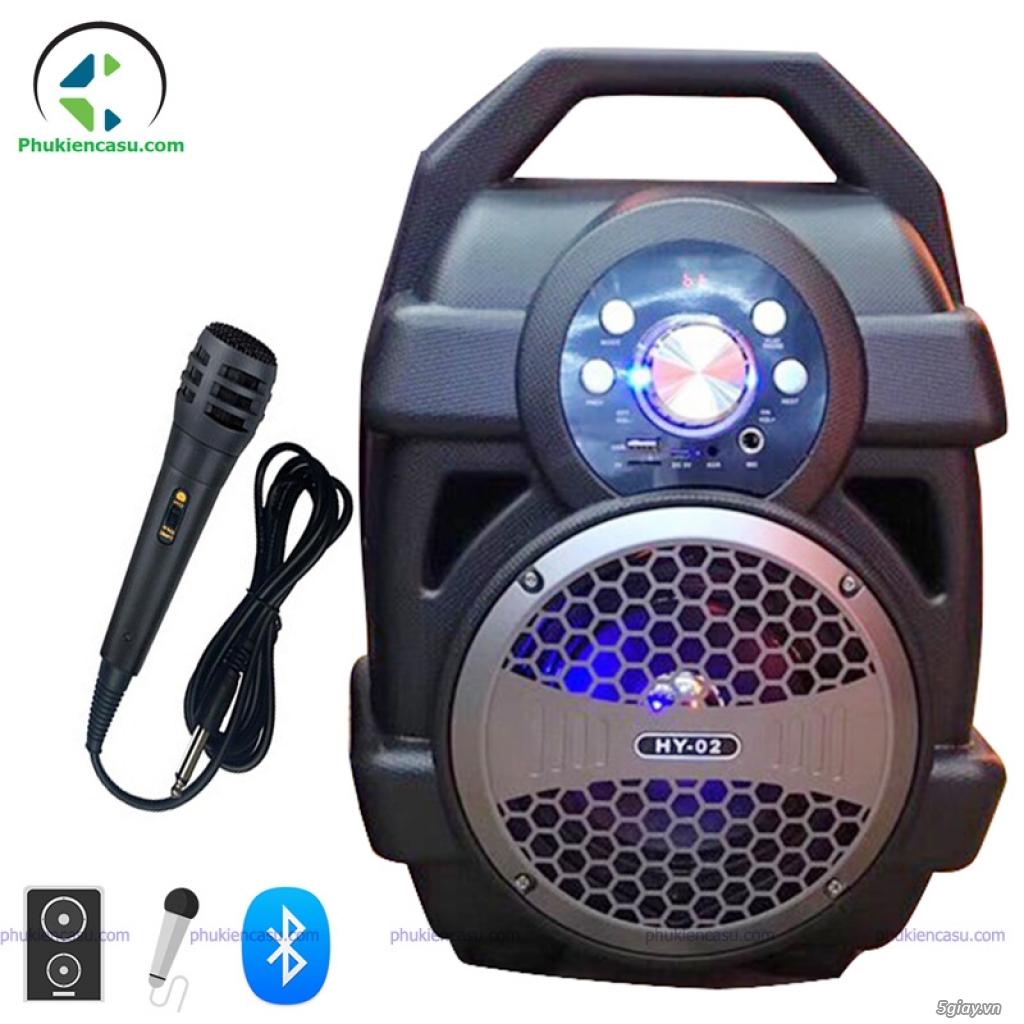 Loa bluetooth karaoke HY02 kèm micro dây loa giá rẻ