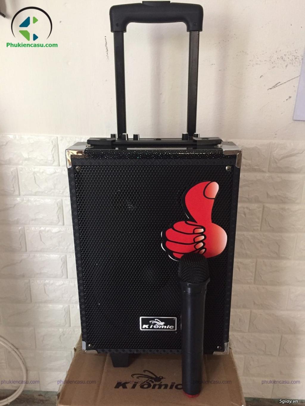 Loa karaoke Kiomic Q8 tặng micro không dây loa kéo mini - 2