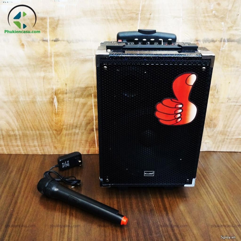 Loa karaoke Kiomic Q8 tặng micro không dây loa kéo mini