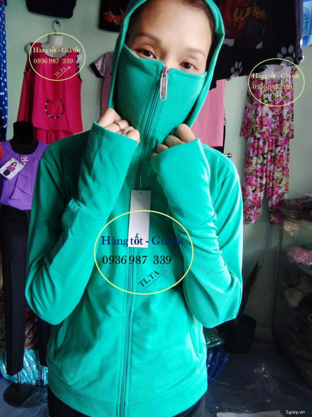 Chuyên cung cấp áo khoác chống nắng có khẩu trang giá sỉ - 0936987339