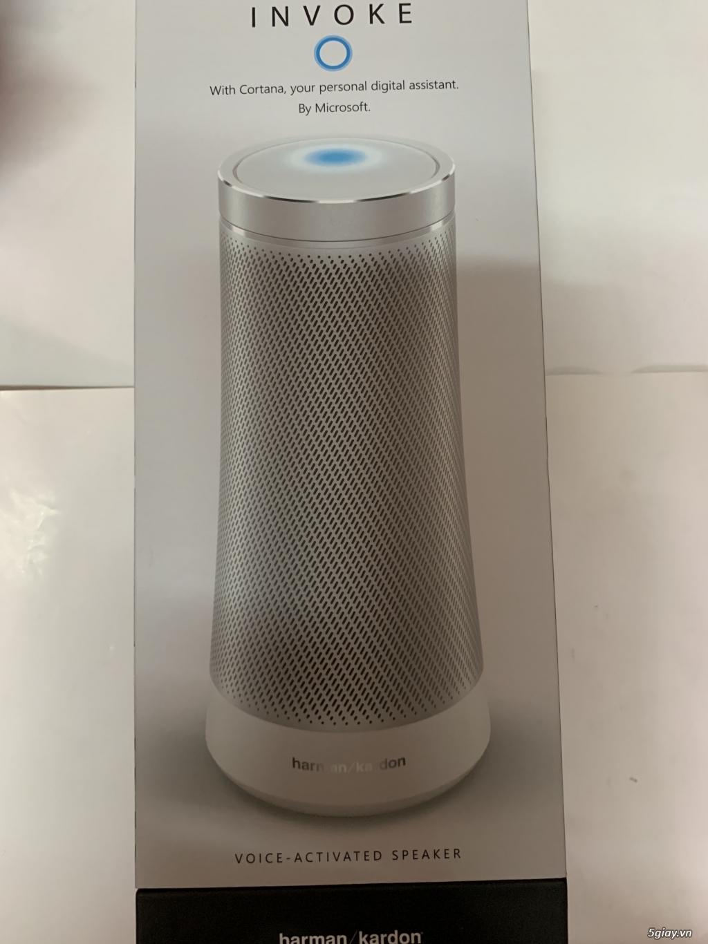 Loa thông minh Harman kardon invoke Cortana xách tay USA mới 100% chưa khui hộp, end 23h00-12/06/201