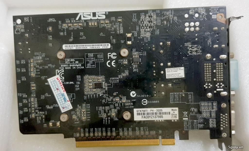 cần bán card vga asus gtx 750 Ti 2gb ddr5 giá 850k - 3