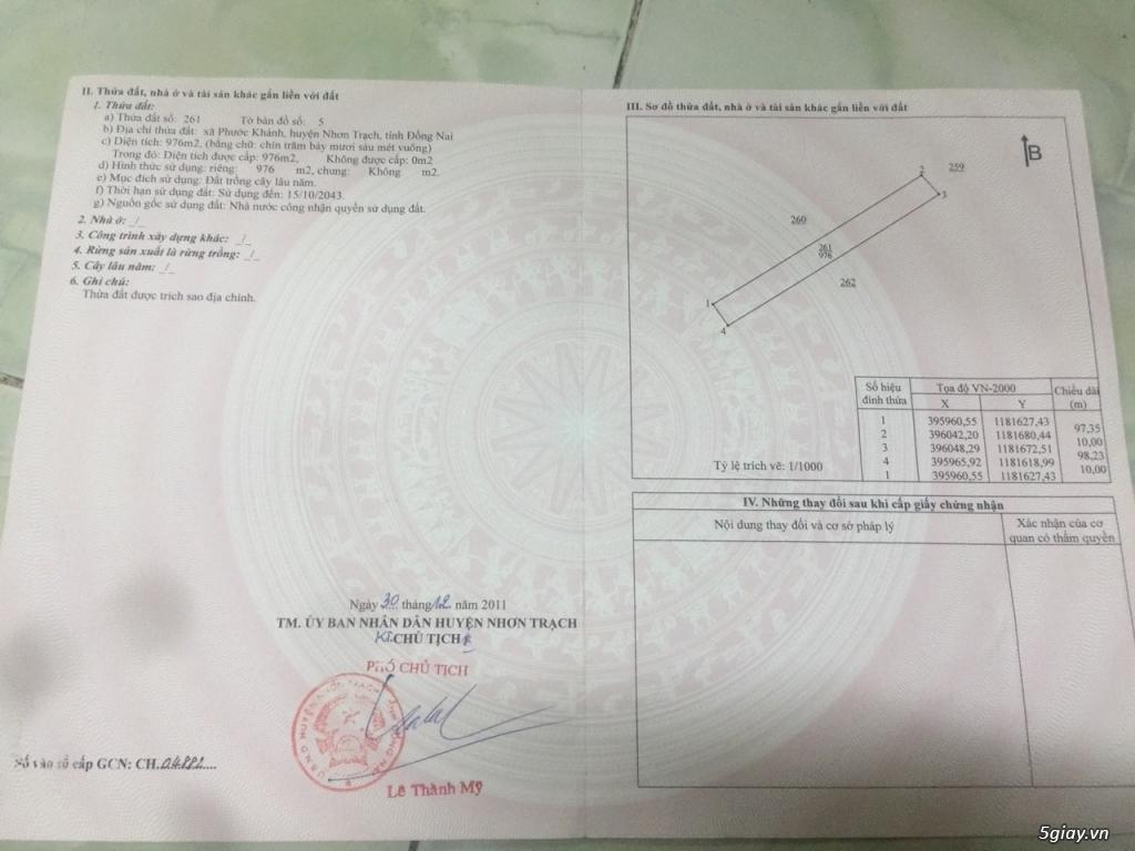 Bán lô đất vị trí đẹp xã Phước Khánh, huyện Nhơn Trạch, giá tốt - 1