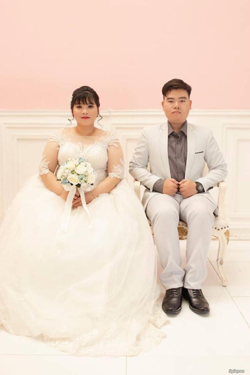 Áo cưới áo vest ngoại cỡ Tròn Xinh