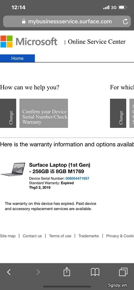 Surface Laptop Gen 1 Hàng Chính hãng  nguyên zin