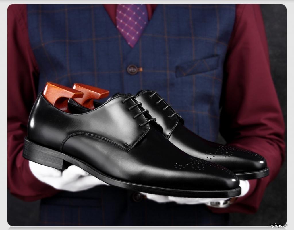 Giày da bò nam, giày nam công sở buộc dây cao cấp - 10