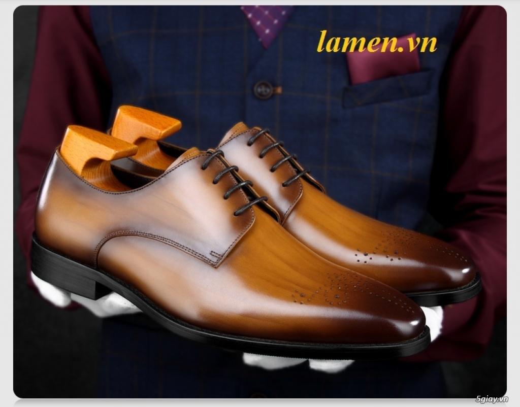 Giày da bò nam, giày nam công sở buộc dây cao cấp - 9
