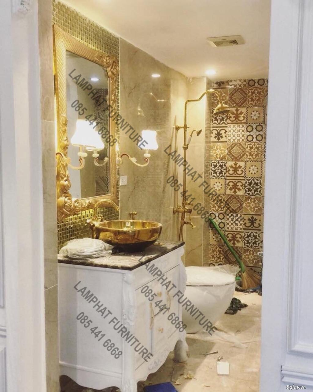 Bán tủ chậu lavabo tân cổ điển, hiện đại, tủ chậu mặt đá phòng tắm - 2
