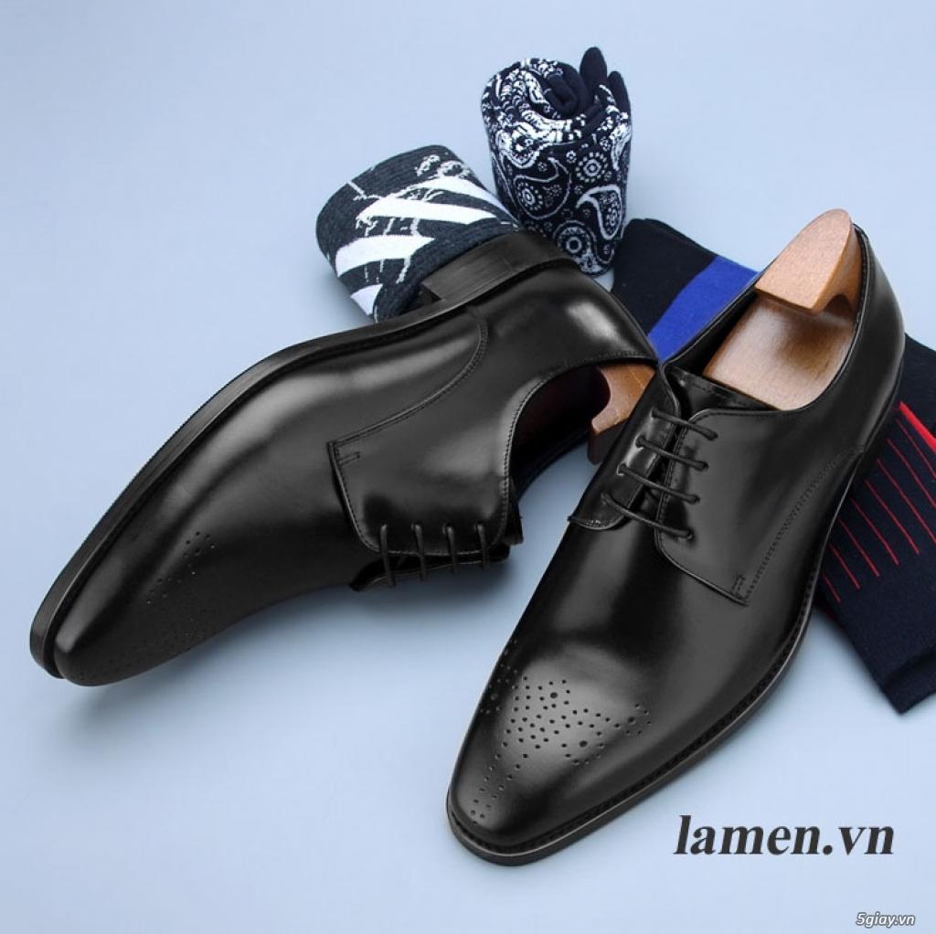 Giày da bò nam, giày nam công sở buộc dây cao cấp - 6