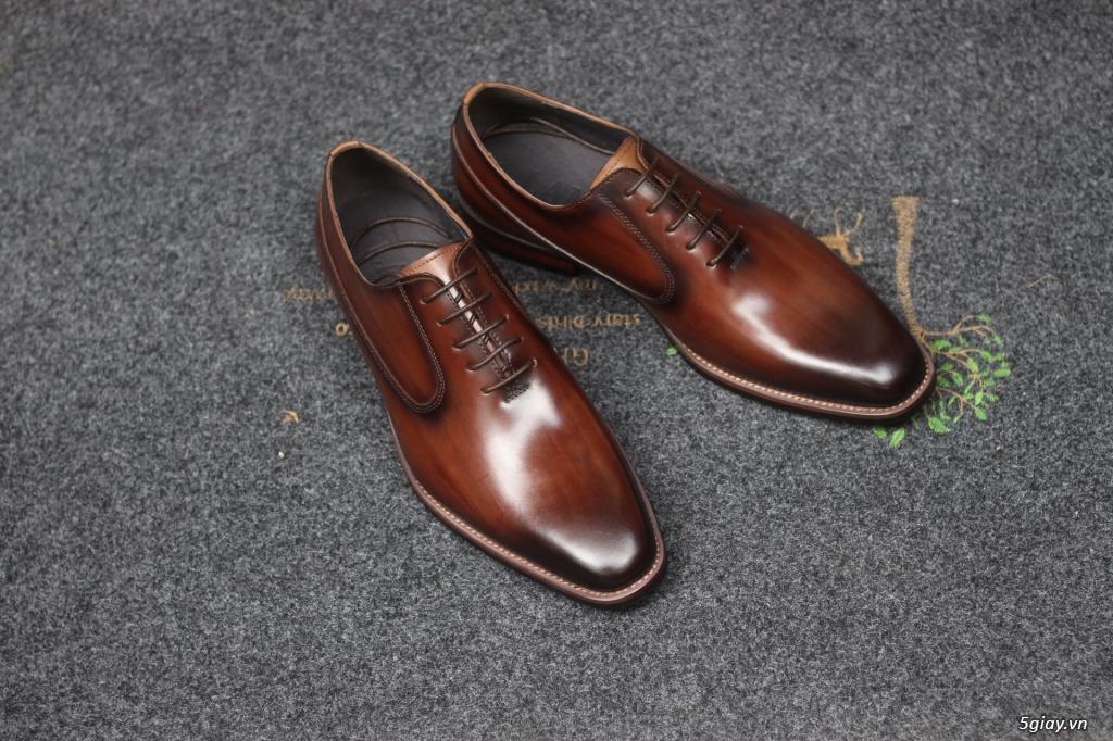 Giày da bò nam, giày nam công sở buộc dây cao cấp - 20
