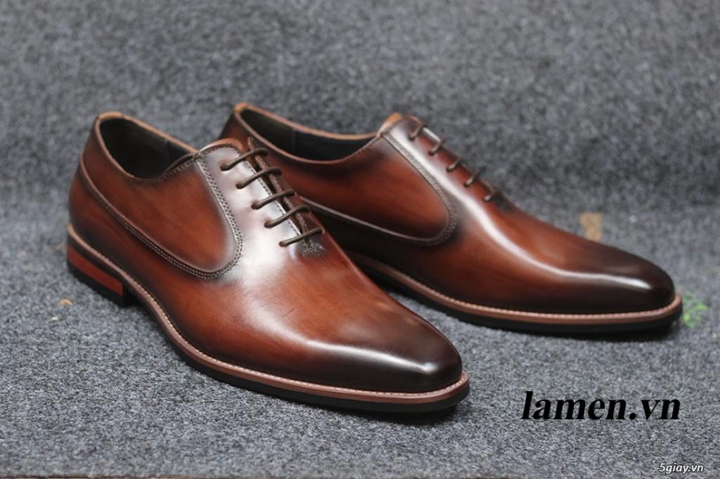 Giày da bò nam, giày nam công sở buộc dây cao cấp - 17