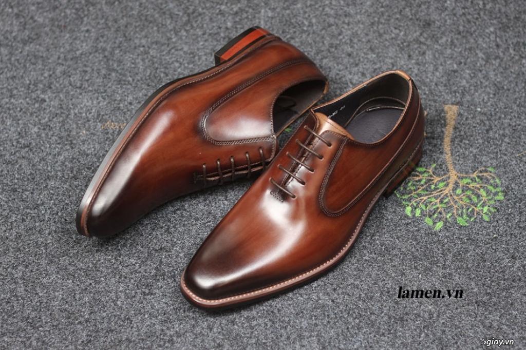 Giày da bò nam, giày nam công sở buộc dây cao cấp - 18