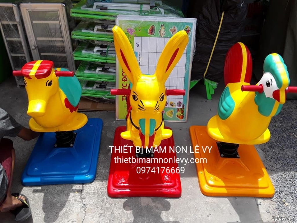 Thú nhún lò xo - đồ chơi trẻ em - 2