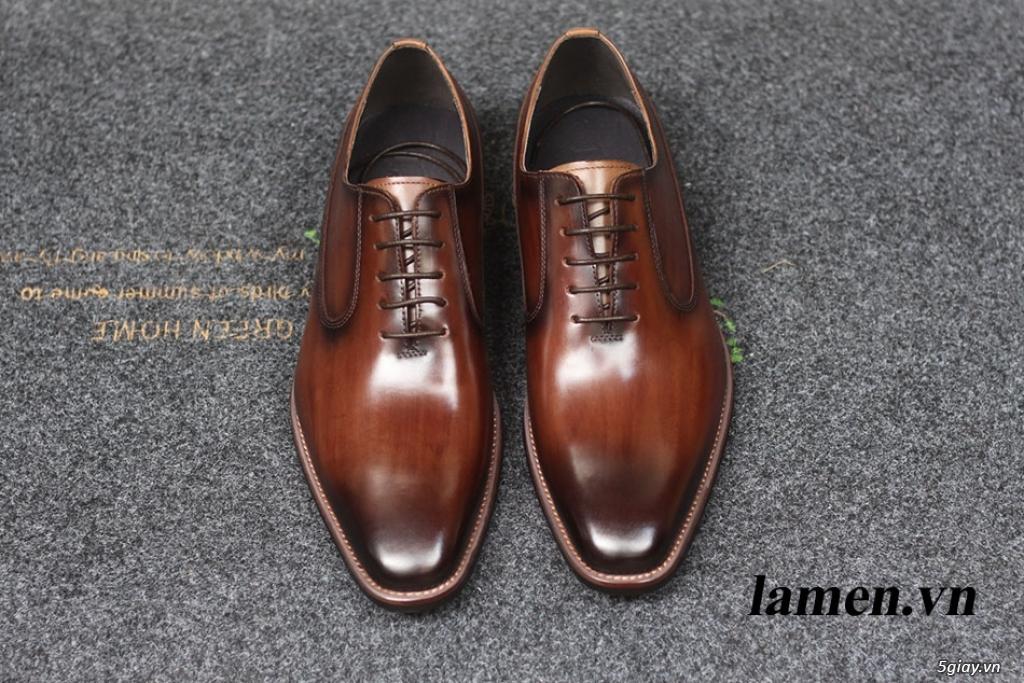 Giày da bò nam, giày nam công sở buộc dây cao cấp - 19