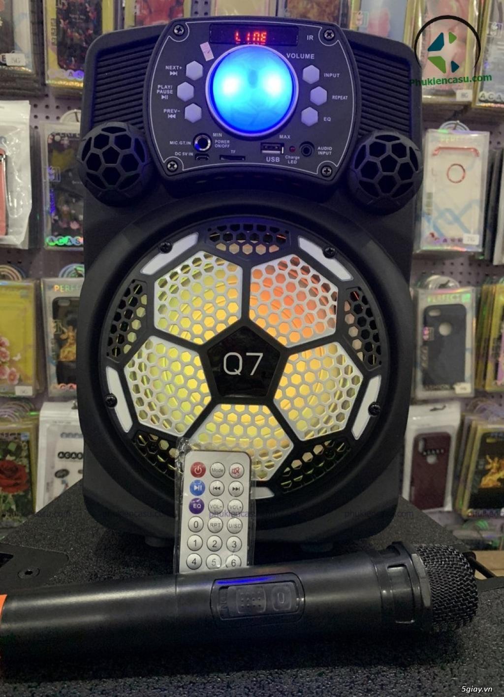 Loa kéo di động Q7 kèm micro không dây loa karaoke