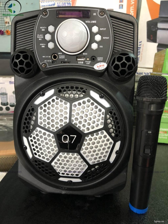 Loa kéo di động Q7 kèm micro không dây loa karaoke - 1