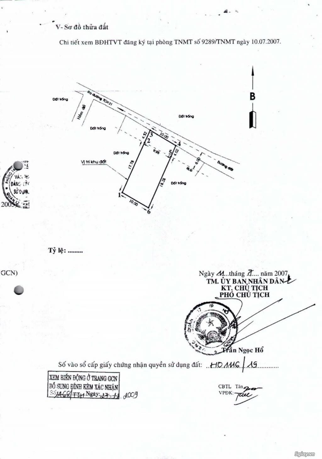 Bán Đất + Xưởng Kiên Cố TTH21 - Q12 - 1