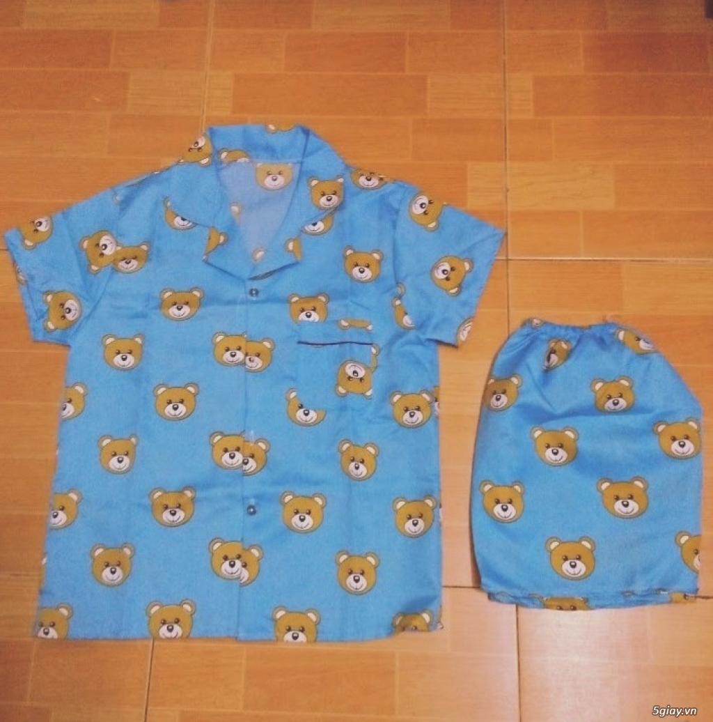Xả kho 30 bộ Pijama cộc tay freesize chất đẹp giá chỉ 45k/bộ - 1