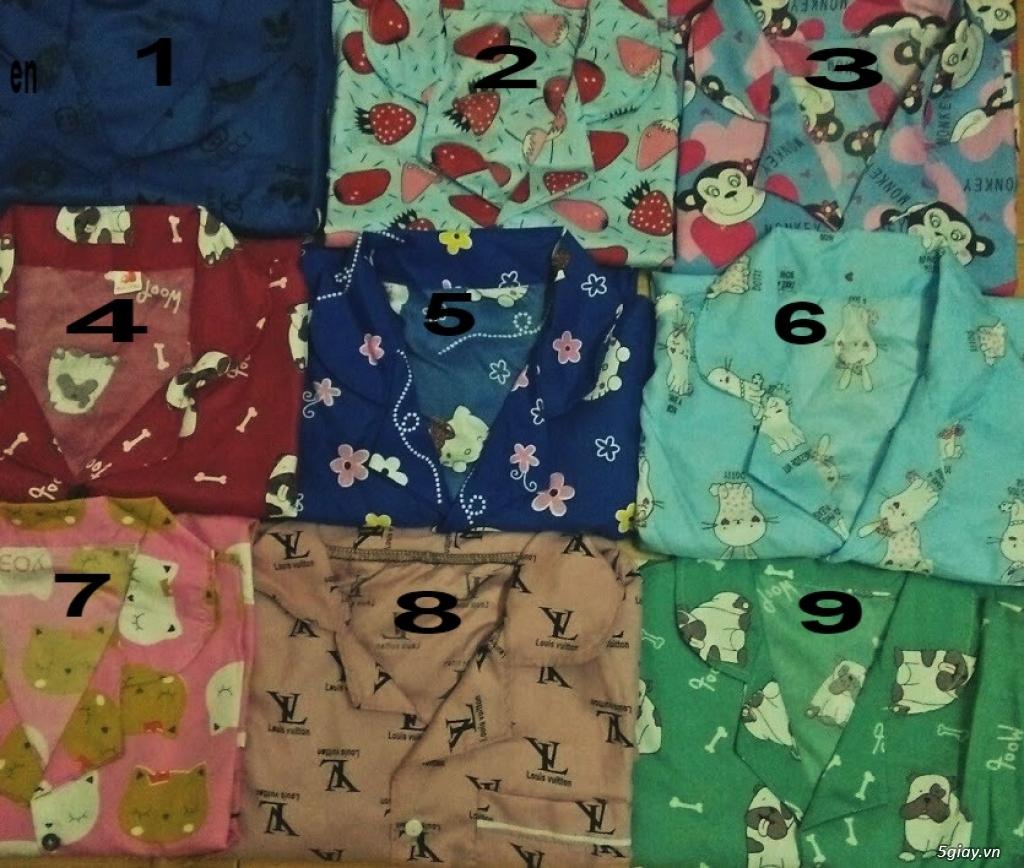 Xả kho 30 bộ Pijama cộc tay freesize chất đẹp giá chỉ 45k/bộ - 2