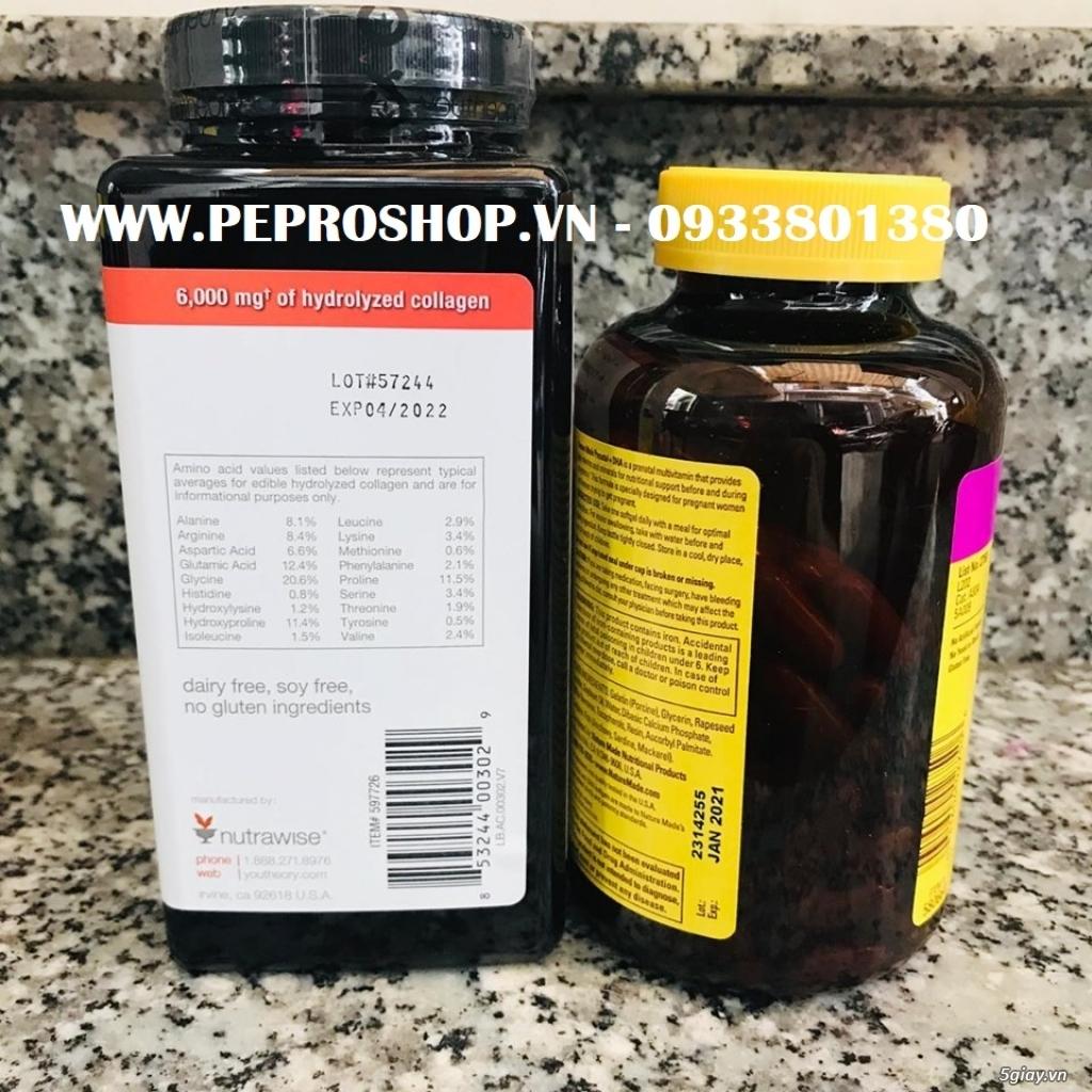 Viên Collagen Youtheory 390v ,Thuốc Nature Made Prenatal 150v mẫu mới - 1
