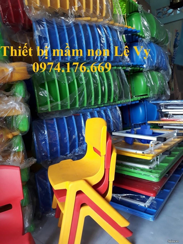 Ghế mầm non bằng nhựa đúc, hàng nhập khẩu. Chất lượng tốt. Phù hợp với - 2