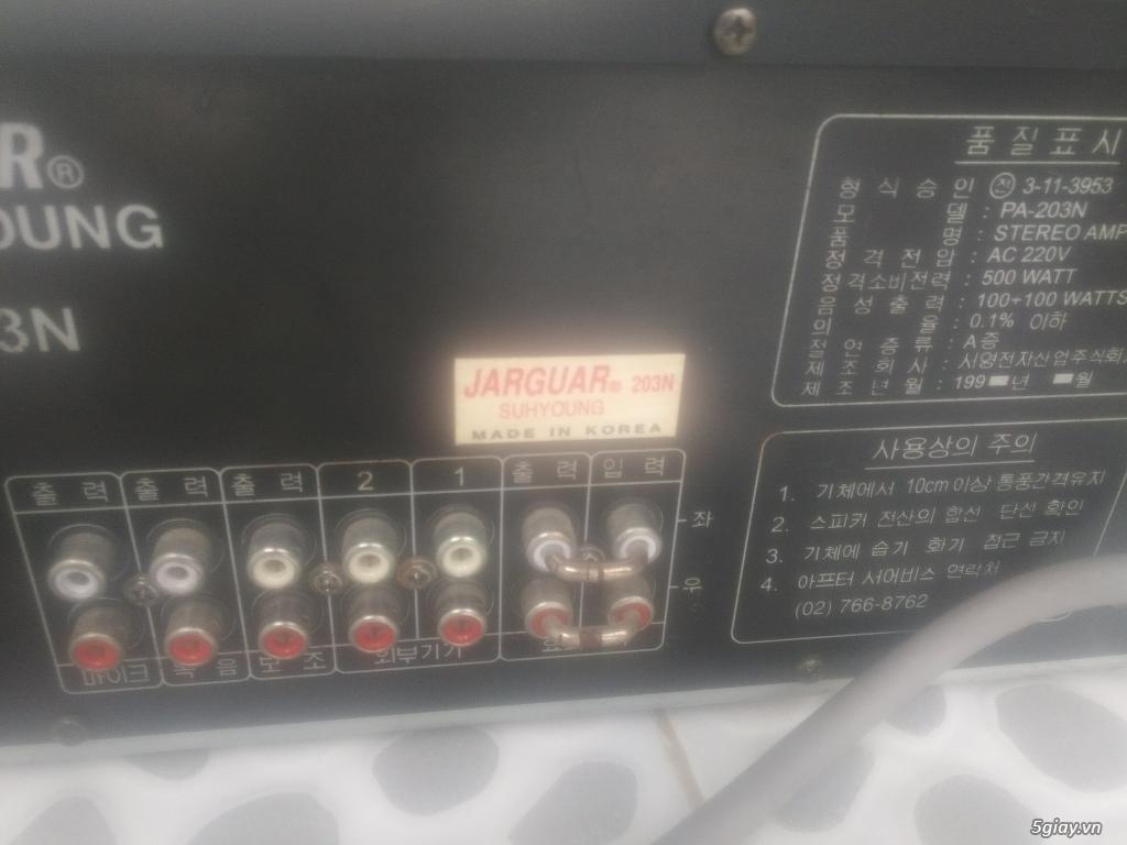 Ampli Jarguar PA-203N Hàng Bãi Korea- Main đỏ cắt bướm - Xịn - 4