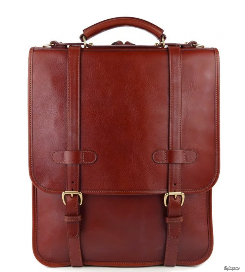 Bán balo Backpack leather luxury Red USA New - 3