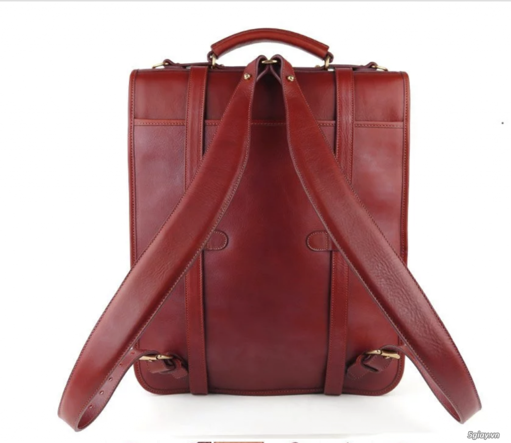 Bán balo Backpack leather luxury Red USA New - 5