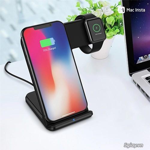 Đế sạc không dây 2in1 dạng đứng cho Iphone và AppleWatch - 6