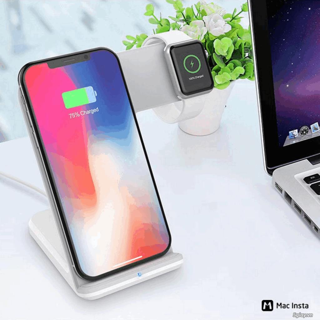 Đế sạc không dây 2in1 dạng đứng cho Iphone và AppleWatch - 11