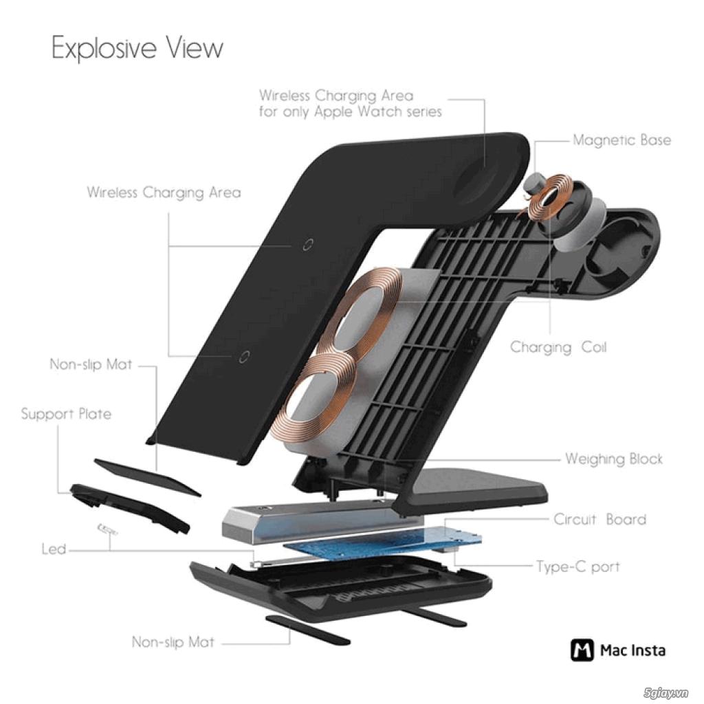 Đế sạc không dây 2in1 dạng đứng cho Iphone và AppleWatch - 10