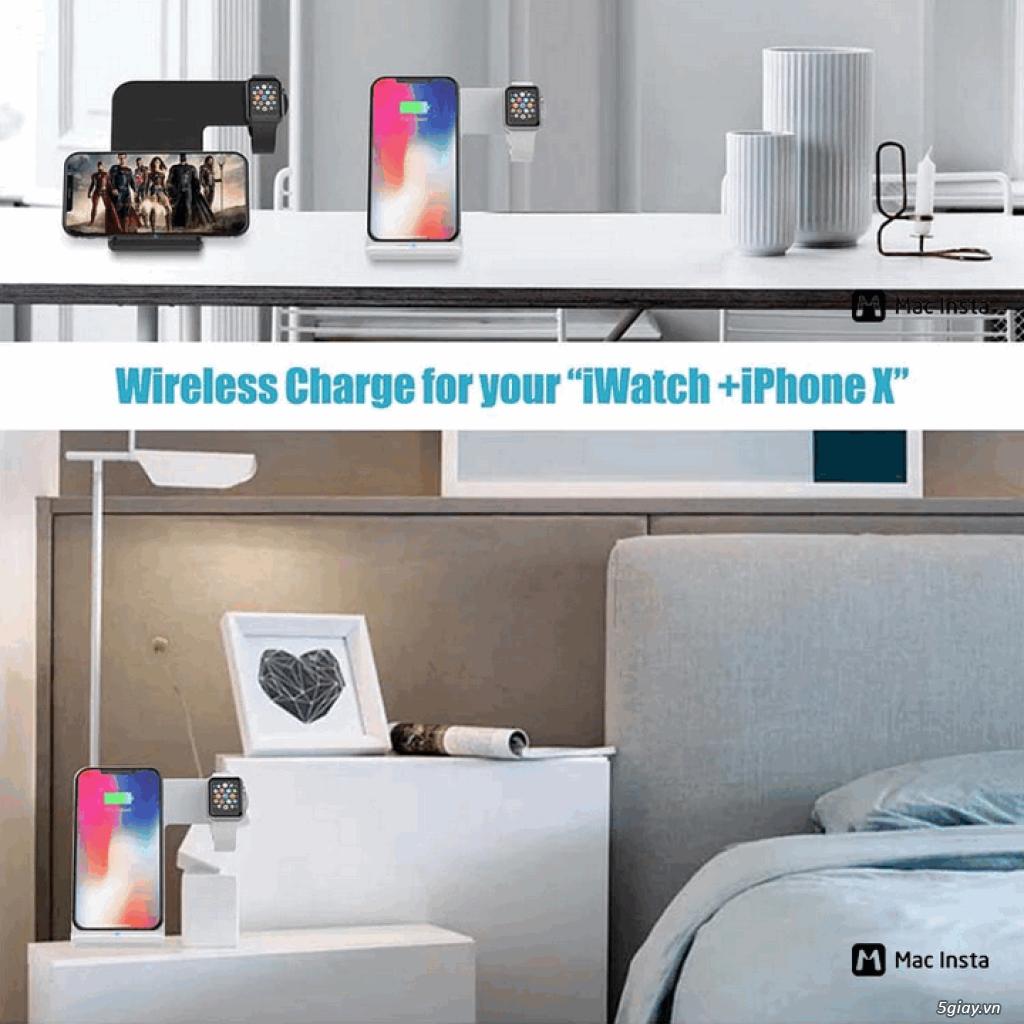 Đế sạc không dây 2in1 dạng đứng cho Iphone và AppleWatch - 14