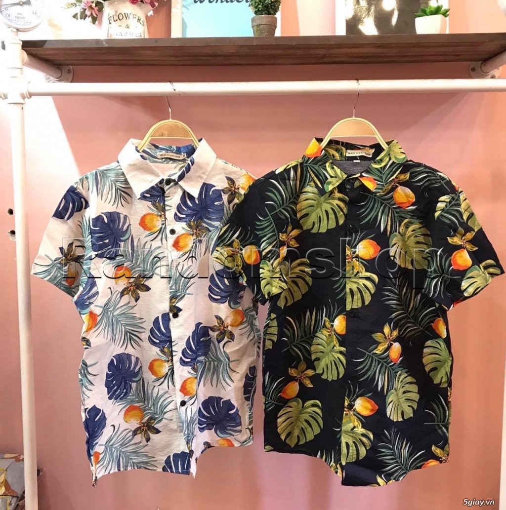 Áo sơ mi đũi họa tiết hawaii giá chỉ 99k - 3