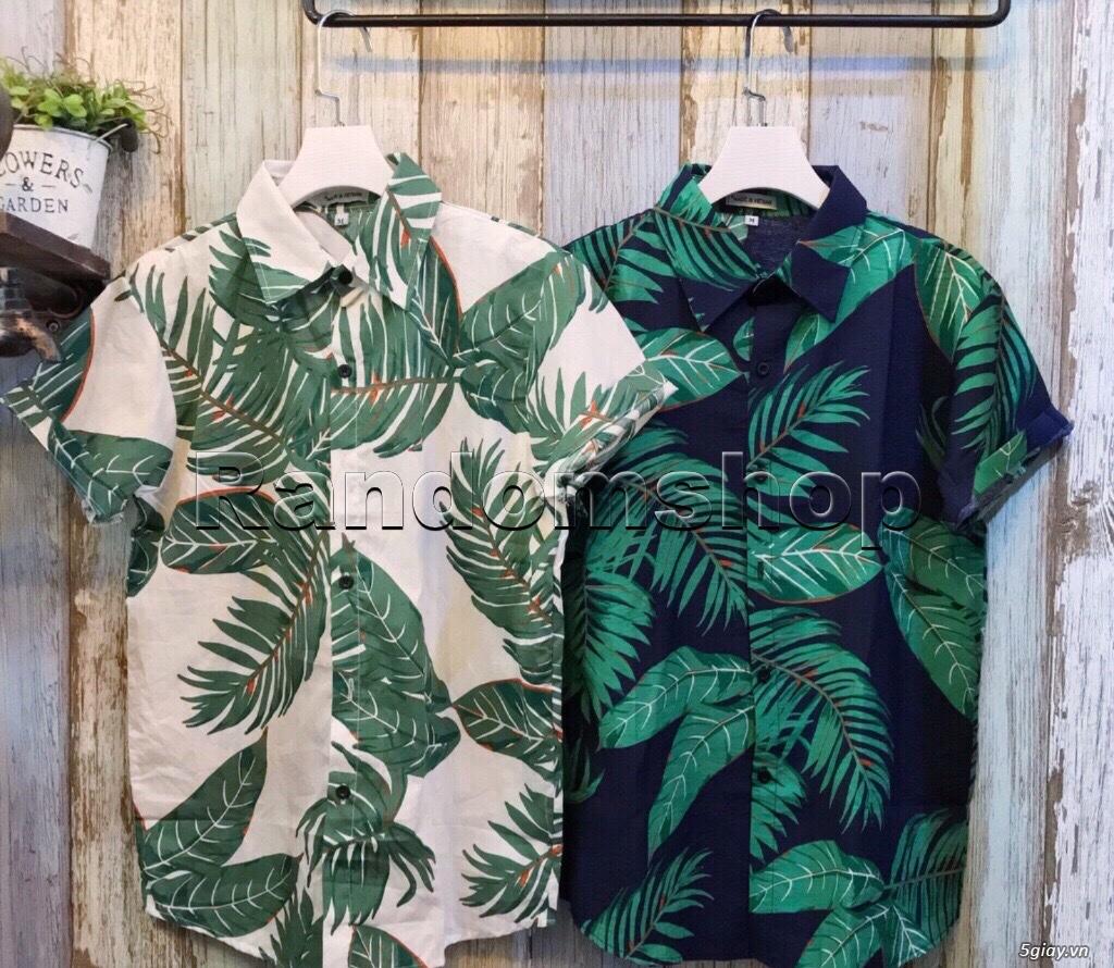 Áo sơ mi đũi họa tiết hawaii giá chỉ 99k - 6