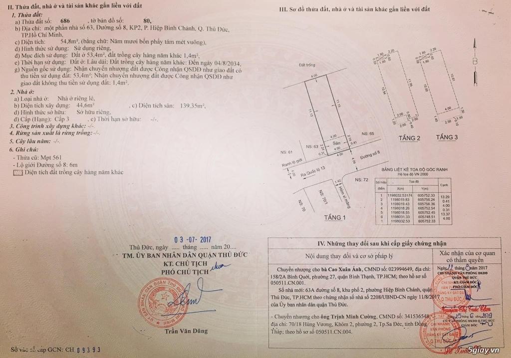 Bán nhà 4x14 (1 trệt 2 lầu) Thủ Đức - Đang có thu nhập 20tr/tháng. - 10