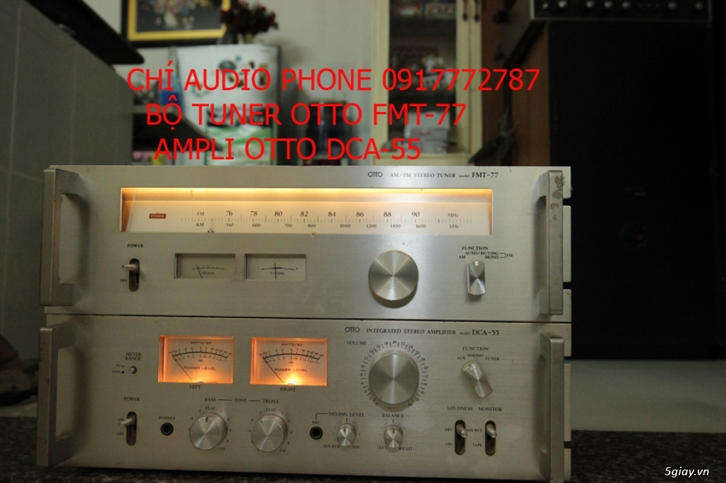 bán bộ ampli OTTO DCA-55 và TUNER FMT 77 - 6