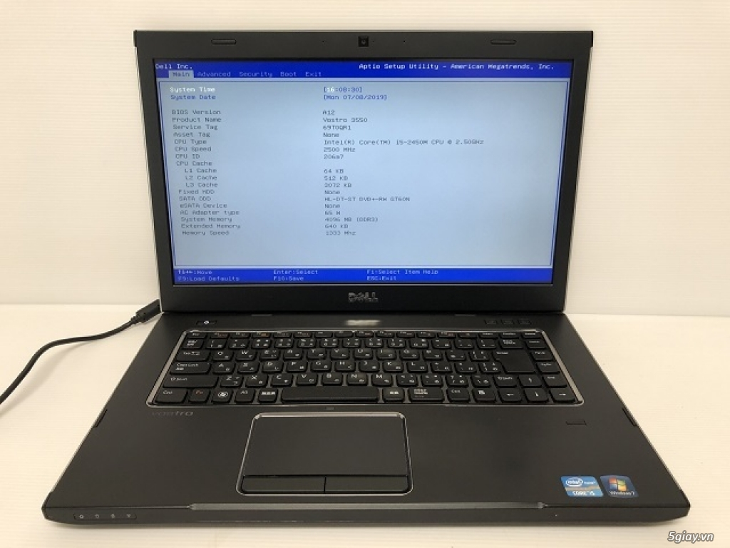 Dell Vostro 3550 LIKE NEW Core i5 2520M Ram 4G HDD250G  Rất ĐẸP - 3