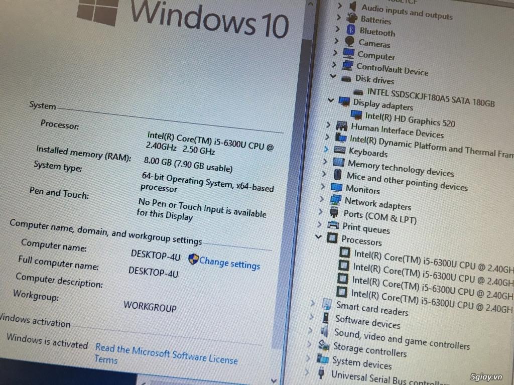 Dell Latitude e7270-i5-6300-8g-180g ssd, zin US - 1