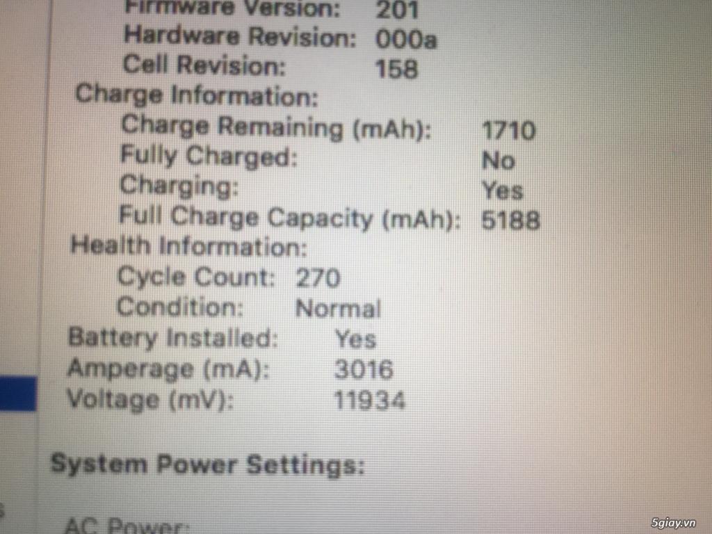 Macbook Pro 13 MD101 Mid 2012 I5 - 6