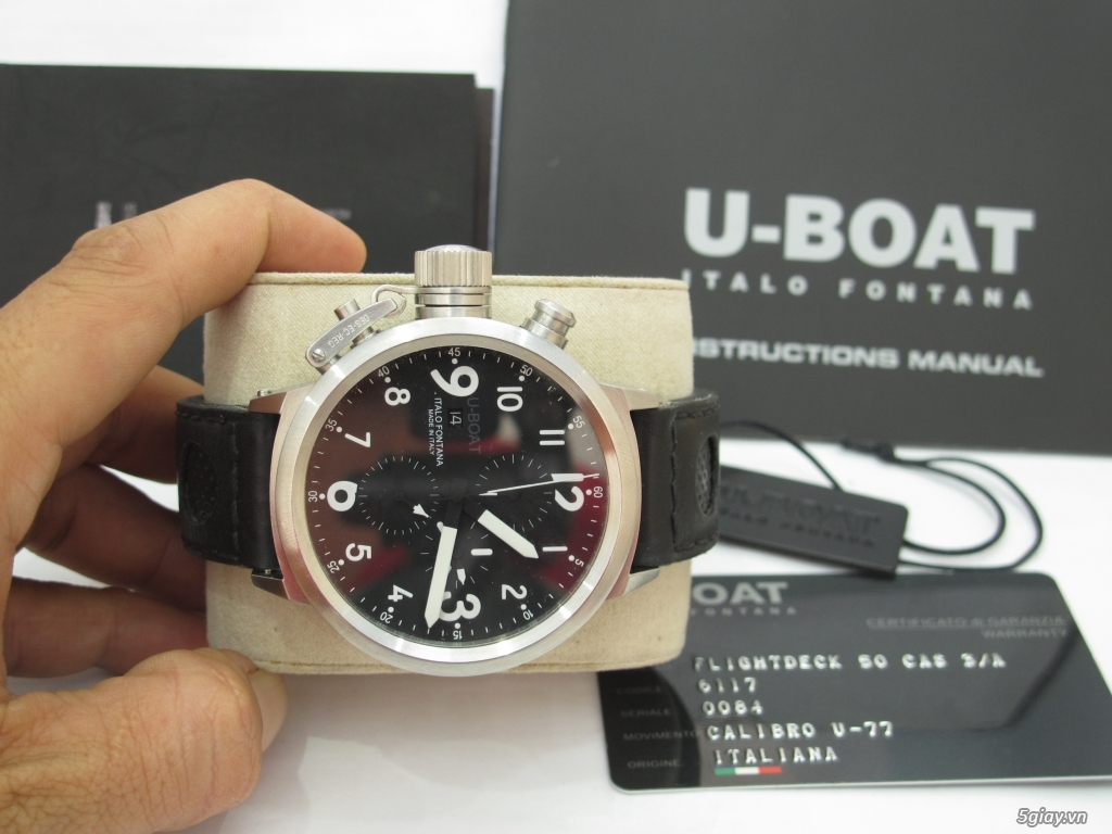 Đồng hồ U-Boat nam Chronograph Fullbox giá tốt - 4