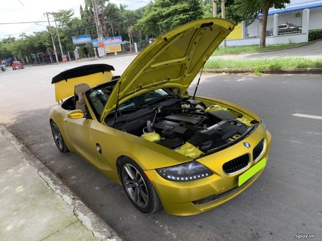 bán Bmw Z4, 2008, số sàn, mui xếp tự động, màu vàng, full option - 5