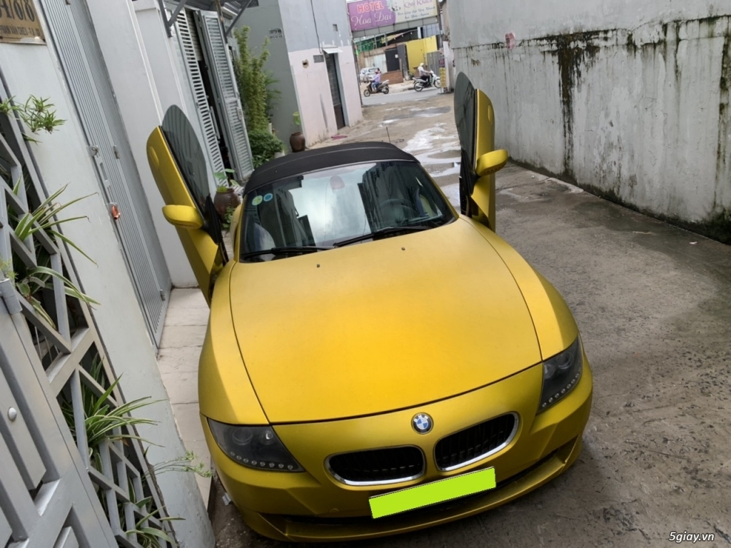 bán Bmw Z4, 2008, số sàn, mui xếp tự động, màu vàng, full option - 1