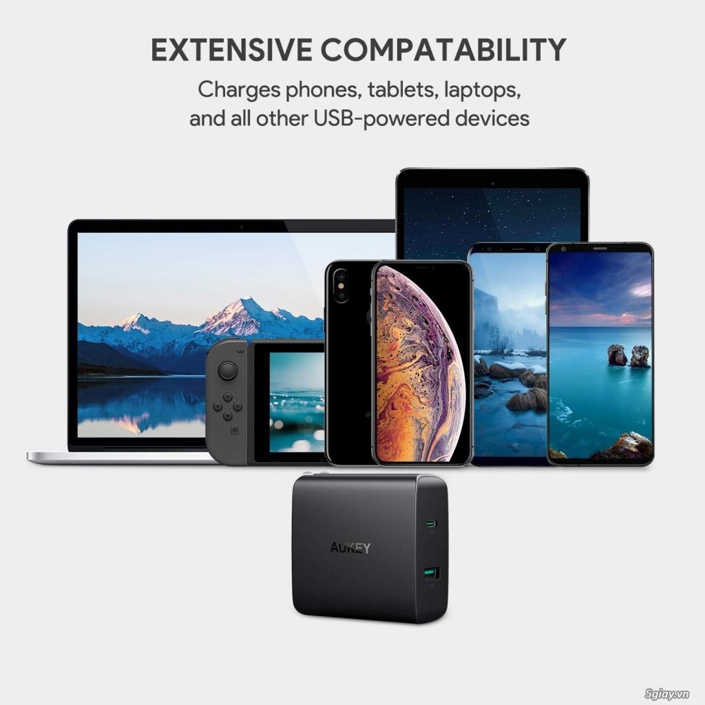 Sạc Aukey 2 cổng sạc USB-C có Power Delivery 3.0 - 1