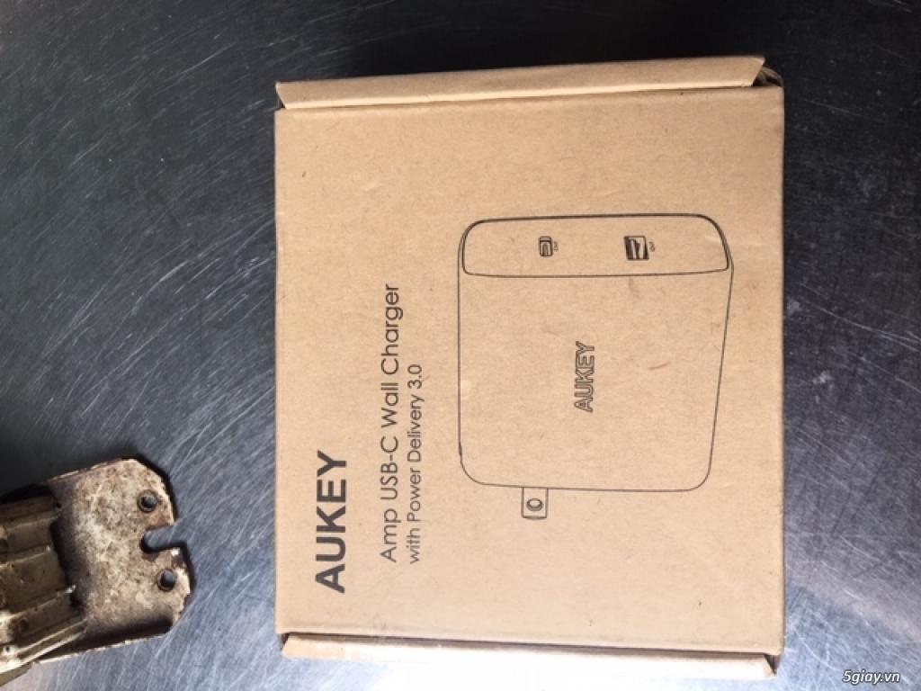 Sạc Aukey 2 cổng sạc USB-C có Power Delivery 3.0 - 3