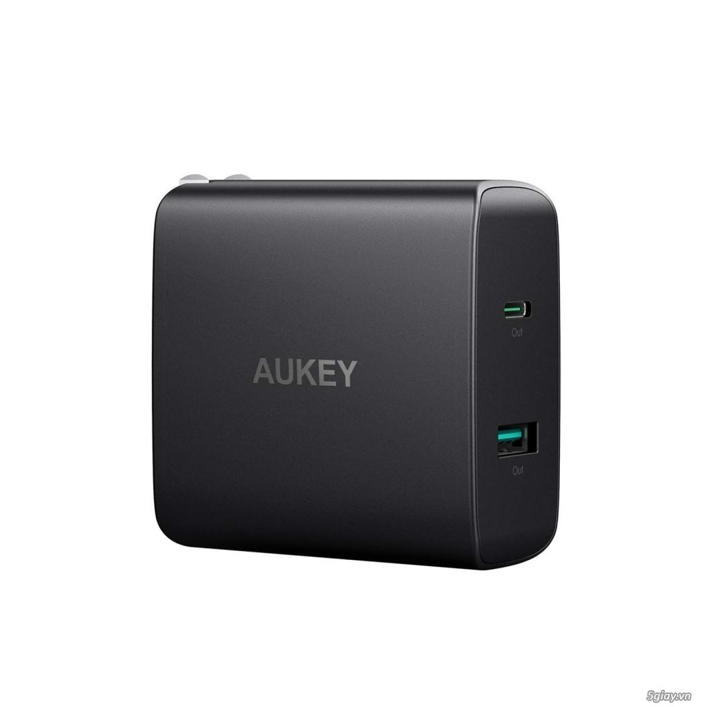 Sạc Aukey 2 cổng sạc USB-C có Power Delivery 3.0
