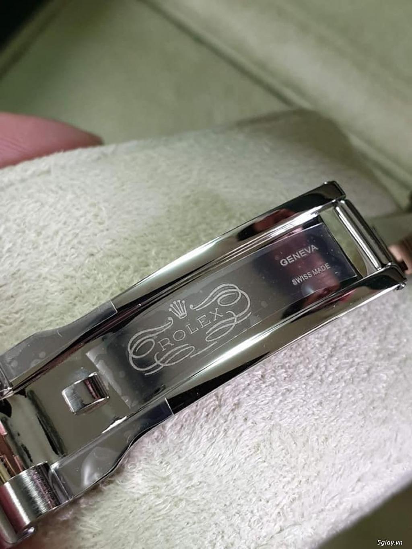 Rolex bọc vàng 18k vàng hồng xà cừ thách thức các thần soi 2019 - 10