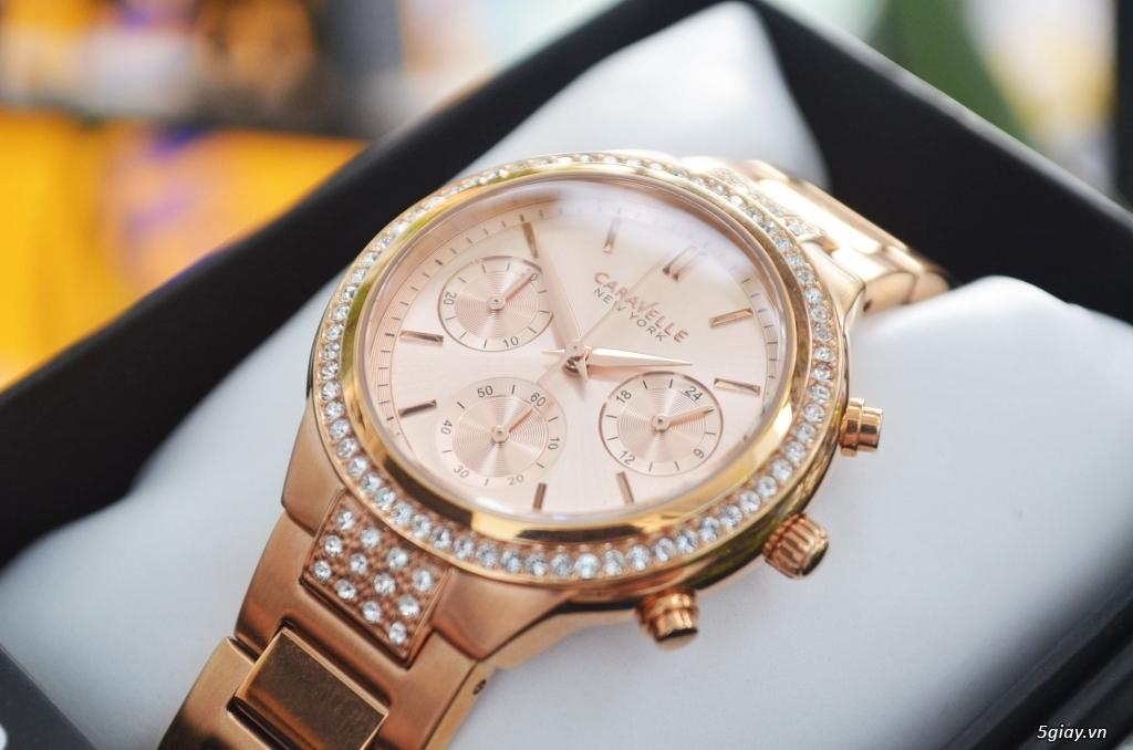 BULOVA CARAVELLE Nữ vàng hồng rất đẹp hàng xách tay Mỹ giá tốt nhất - 1