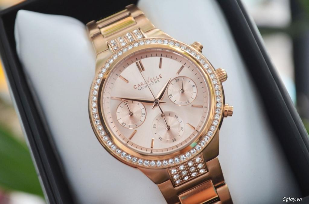 BULOVA CARAVELLE Nữ vàng hồng rất đẹp hàng xách tay Mỹ giá tốt nhất - 3