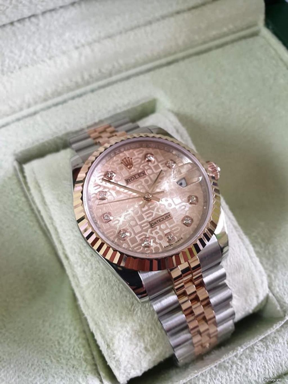 Rolex bọc vàng 18k vàng hồng xà cừ thách thức các thần soi 2019