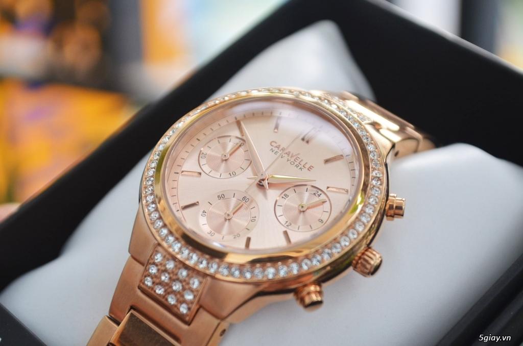 BULOVA CARAVELLE Nữ vàng hồng rất đẹp hàng xách tay Mỹ giá tốt nhất
